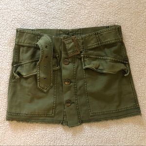 Free People Olive Mini Skirt